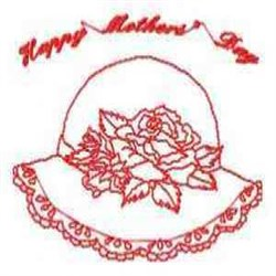 Mothers Day Hat embroidery design