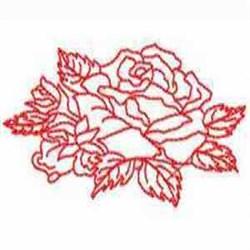 Redwork Rose embroidery design