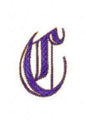 Elegant Alphabet C embroidery design