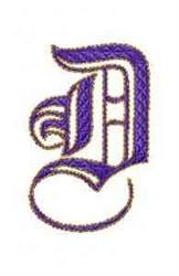 Elegant Alphabet D embroidery design