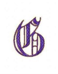 Elegant Alphabet G embroidery design