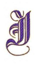 Elegant Alphabet J embroidery design
