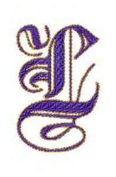 Elegant Alphabet L embroidery design