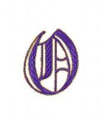 Elegant Alphabet O embroidery design