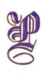 Elegant Alphabet P embroidery design