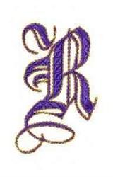Elegant Alphabet R embroidery design