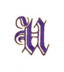 Elegant Alphabet U embroidery design