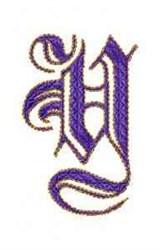 Elegant Alphabet Y embroidery design