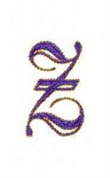 Elegant Alphabet Z embroidery design