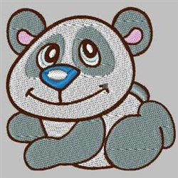 Loveable Panda embroidery design