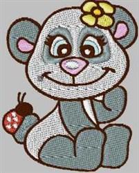 Panda & Ladybug embroidery design