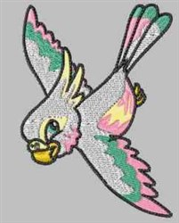 Flying Parrot embroidery design