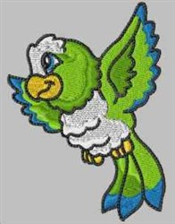 Parrot Flying embroidery design