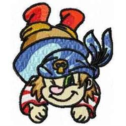 Funny Pirate embroidery design