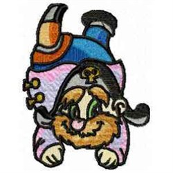 Peg Leg Pirate embroidery design