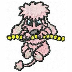 Hanging Poodle embroidery design