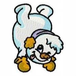 Amusing Snowman embroidery design