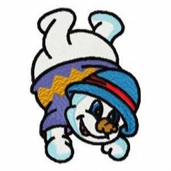Funny Snow Man embroidery design