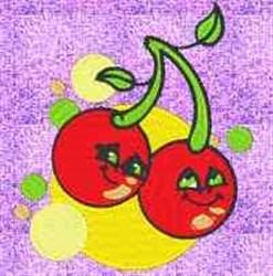 Happy Cherries embroidery design