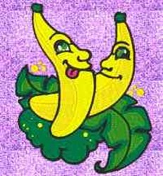 Happy Bananas embroidery design