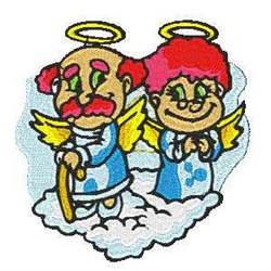 Humorous Angels embroidery design
