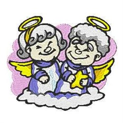 Angels In Cloud embroidery design