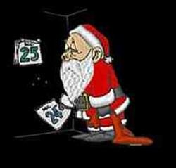 Santa With Calendar embroidery design