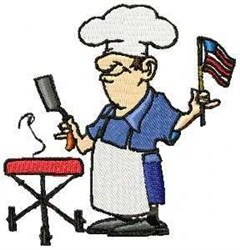 USA Barbeque embroidery design