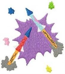 Firework Rockets embroidery design