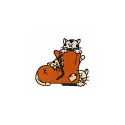 Cat & Boot embroidery design