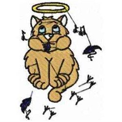 Angel Cat embroidery design