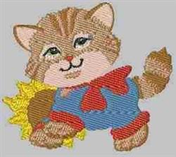 Sunflower Kitten embroidery design