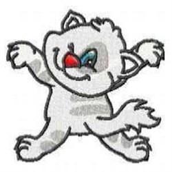 White Kitty embroidery design