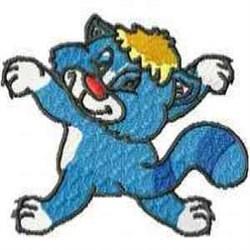 Funny Feline embroidery design