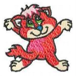 Red Kitty embroidery design
