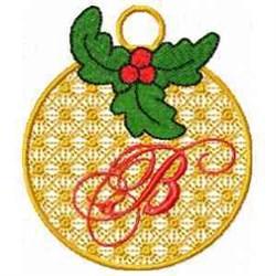 Ornament Letter B embroidery design