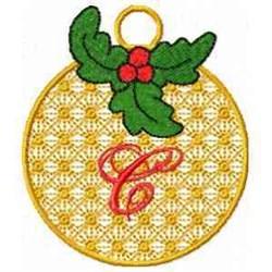 Ornament Letter C embroidery design