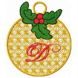 Ornament Letter D embroidery design