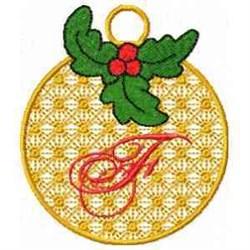 Ornament Letter F embroidery design