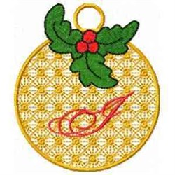 Ornament Letter I embroidery design