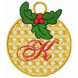 Ornament Letter K embroidery design