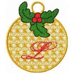 Ornament Letter L embroidery design