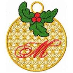 Ornament Letter M embroidery design