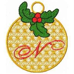 Ornament Letter N embroidery design