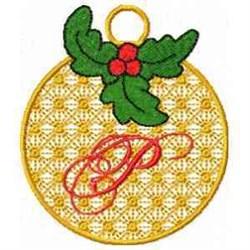 Ornament Letter P embroidery design