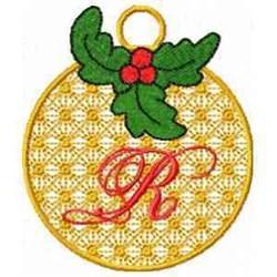 Ornament Letter R embroidery design