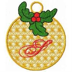 Ornament Letter S embroidery design