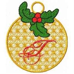 Ornament Letter T embroidery design