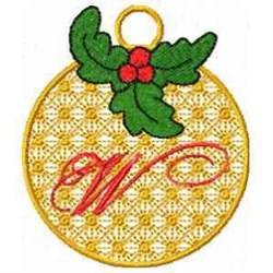 Ornament Letter W embroidery design