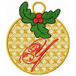 Ornament Letter Y embroidery design